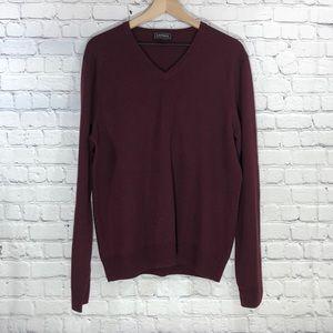 EXPRESS Burgundy Extra Fine Merino Wool Sweater